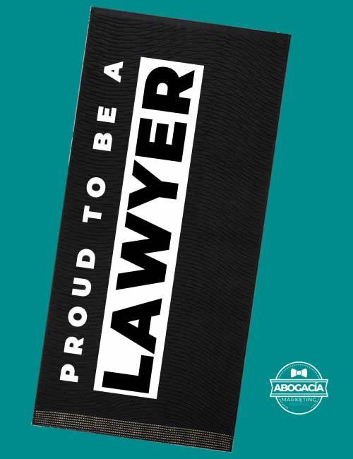 TOALLA DE GIMNASIO PARA ABOGADOS PROUD TO BE A LAWYER