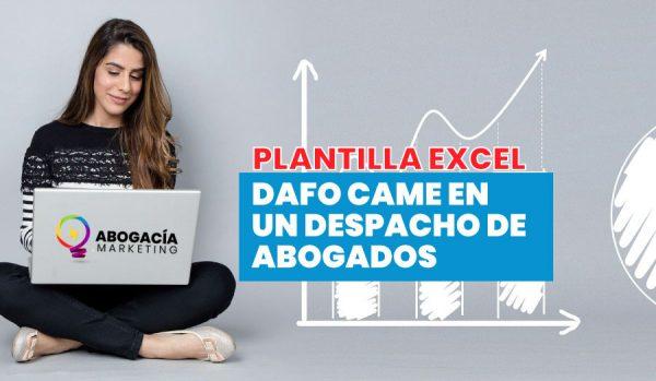 Análisis DAFO-CAME para despachos abogados. Plantilla